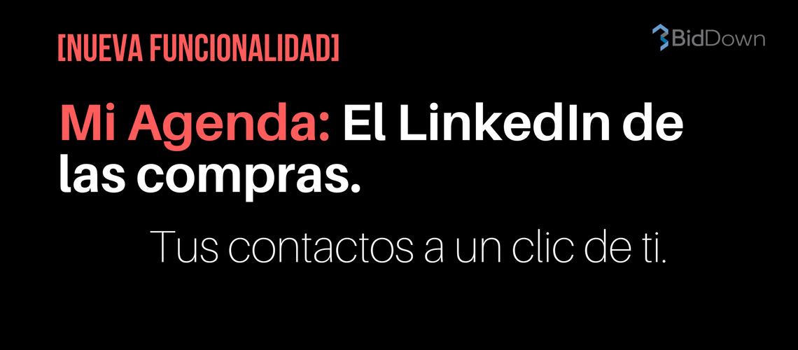 [Nueva funcionalidad] Mi Agenda: El LinkedIn de las compras