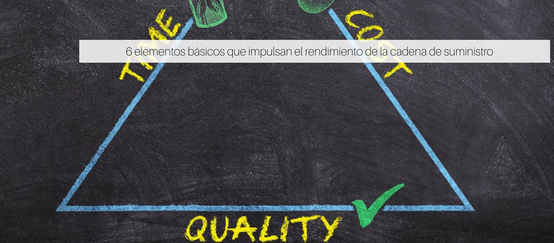6 elementos básicos que impulsan el rendimiento de la cadena de suministro