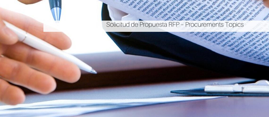 Solicitud de propuesta RFP