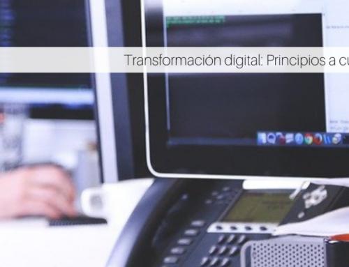 Transformación digital: Principios a cumplir en 2021